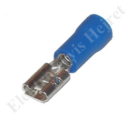 Konektor 4,8 mm zdierka modrá