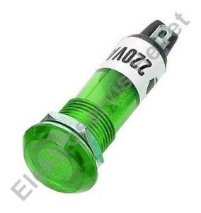 Signálka zelená 230V 10mm